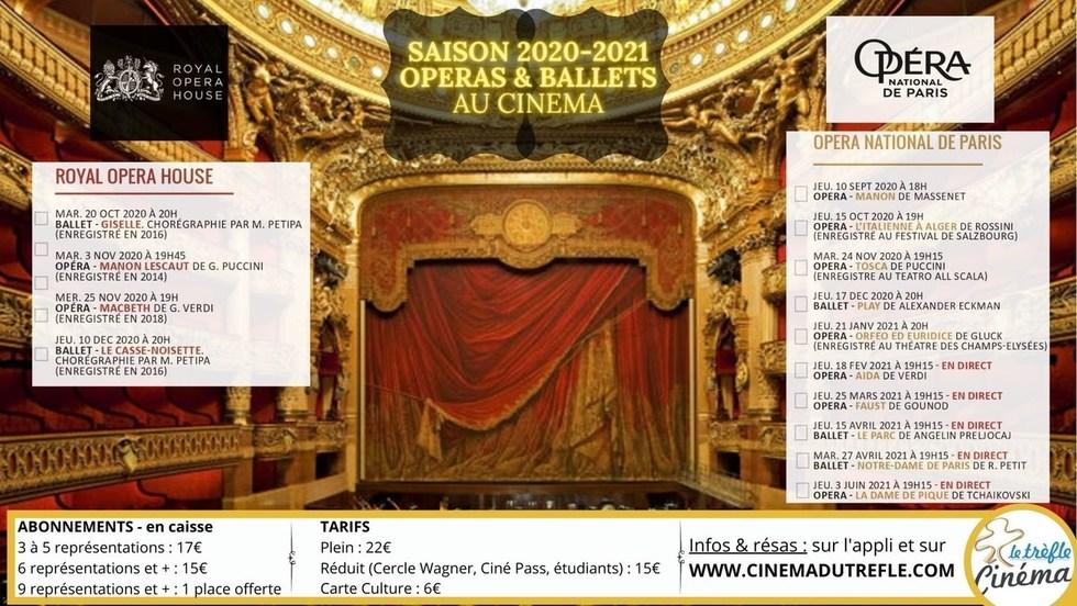 Opéras et ballets 2020-2021