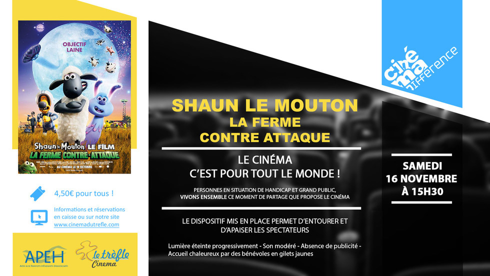 CINE-MA-DIFFERENCE : SHAUN LE MOUTON LA FERME CONTRE ATTAQUE
