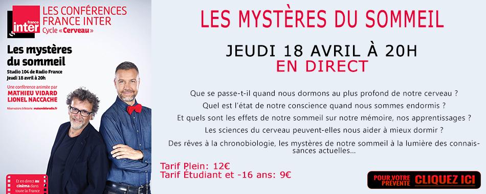 Photo du film Les mystères du sommeil - Conférence France Inter (CGR Events)